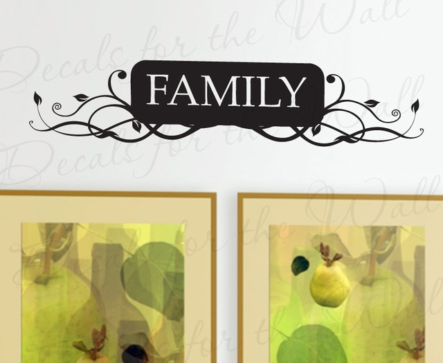 Modern Family Wall Decor : Wall decal sticker quote vinyl art lettering decorative