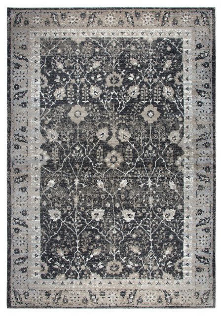 Rizzy Home Panache 7 10 X 10 10 Area Rug Black Gray Tan Ivory