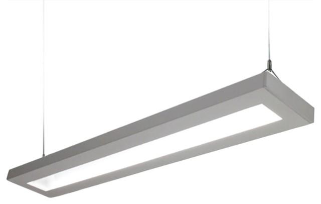 Narrow Low Profile Linear 8 Foot LED Pendant Light Fixture