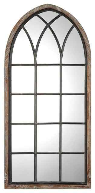 Montone Oversized Arched Wall Mirror Farmhouse Wall