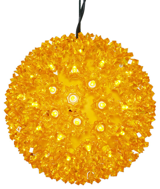 10 Starlight Sphere Christmas Ornament,150 Gold Wide Angle Led Lights.