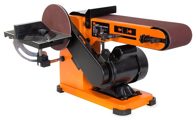 4x36 Belt And 6 Disc Sander With Steel Base.
