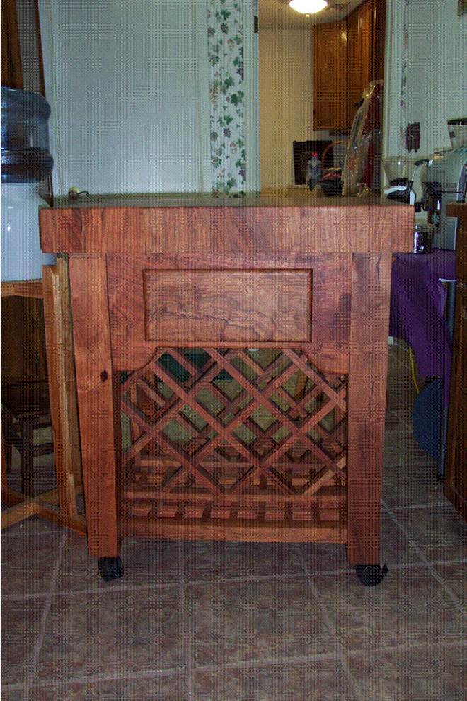 Mesquite Island Cart Wine Rack