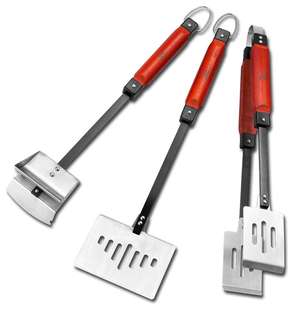 3-Piece Barbeque Multi Tool Grill Set.