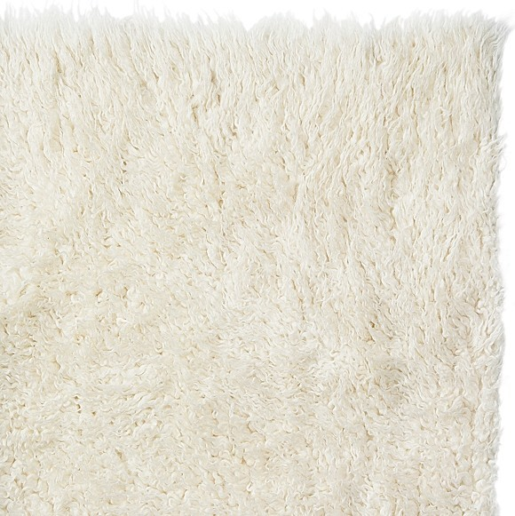 Lovely Pure Eco Friendly Wool Flokati Shag Rug, White, 3u0027x5u0027 Contemporary