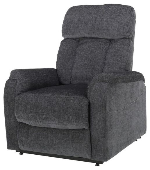 Delicieux Edenton 2 Toned Charcoal Fabric Lift Up Recliner Chair