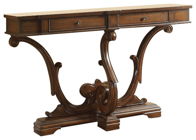 Coaster Console Table, Brown Finish 950585 Traditional Console Tables