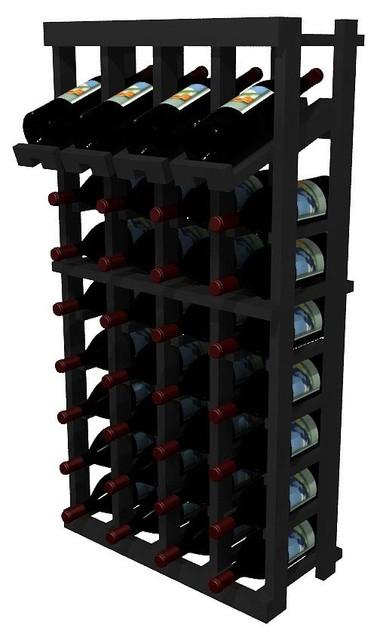 Penley Wine Rack, Pine And Black.