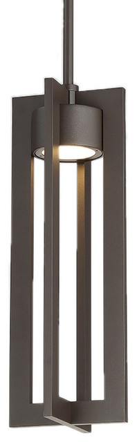 Chamber Led Outdoor Pendant In Bronze.
