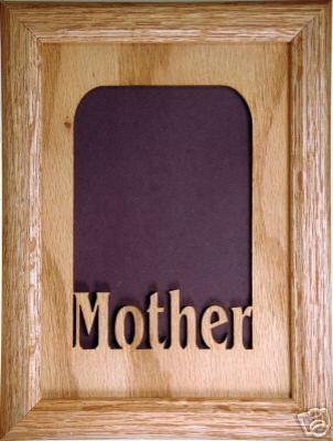 """Mother Vertical Picture Frame and Matte, 5""""x7"""" transitional-picture-frames"""