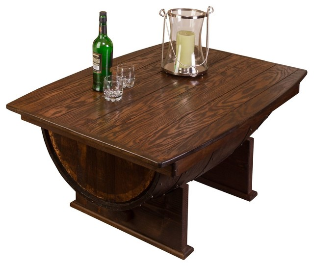 Whiskey Barrel Coffee Table Rustic Tables By