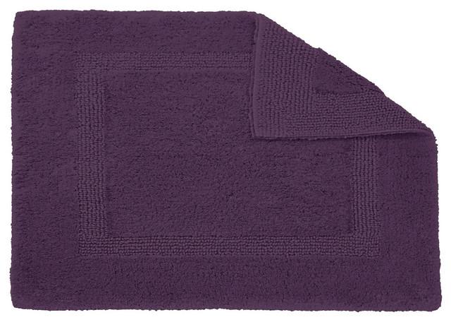 Habidecor Reversible Purple Bath Rug  Square traditional bath mats. Habidecor Reversible Purple Bath Rug   Traditional   Bath Mats