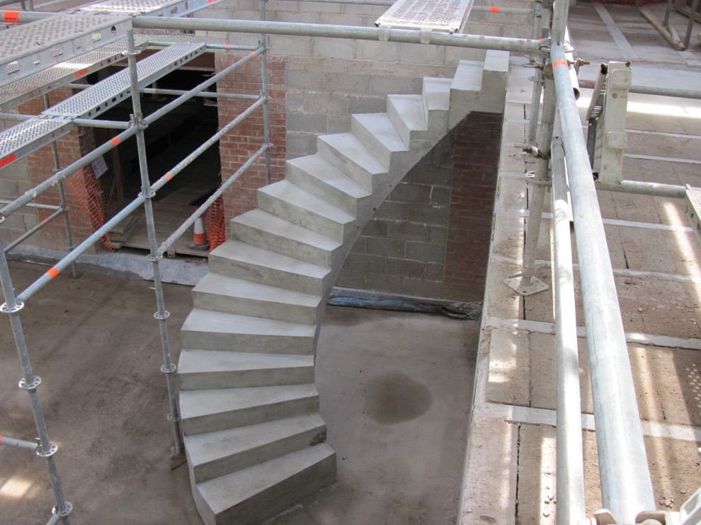 Spiral Concrete Stairs Modern London By Ej Brennan Formwork Ltd In Situ Concrete Stairs