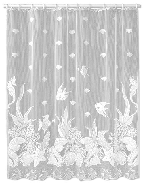 Heritage Lace Shower Curtain FLORET floral lace pattern Shower Decor NEW