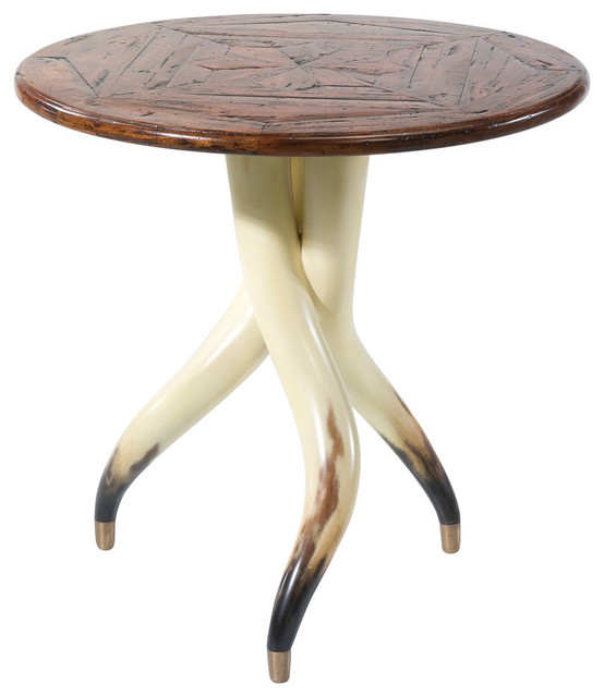 Faux Steerhorn Side Table Southwestern Side Tables And End Tables By English Georgian America