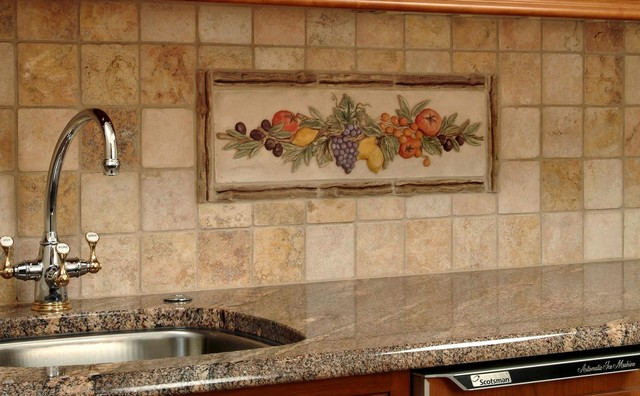 kitchen murals backsplash kitchen decorative mural backsplash mediterranean tile 13697
