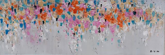 """""""a Mess Of Flower Petals"""" Hand Painted Canvas Artwork; Fine Art; Modern."""