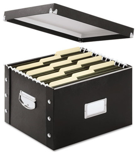 "Snap N Store Storage Box, Letter/legal, 16 1/4""x9 3/4""x13 1/4"", Black."
