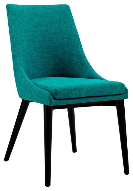 Modern Contemporary Urban Design Kitchen Room Dining Chair Blue Fabric