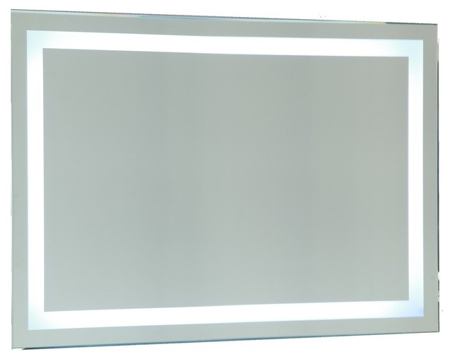 Modern Bathroom Vanity Led Light Crystal Front Mirror: Vanity Art Led Lighted Vanity Bathroom Mirror With Sensor