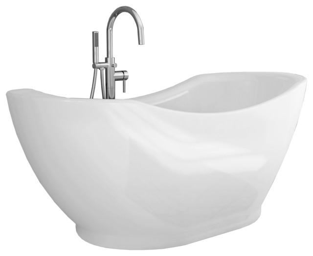 all in one tub and shower. Salacia Pure Acrylic 67  All in One Oval Freestanding Tub Kit contemporary