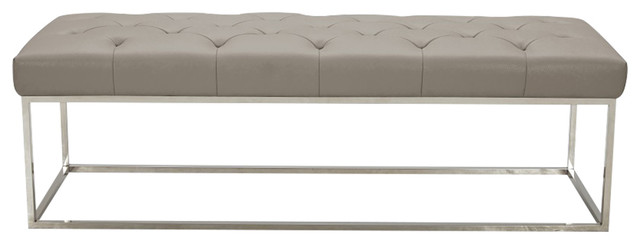 Chelsea Lux Bench, Gray.