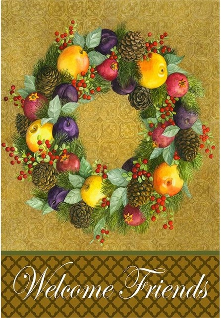 Traditional Fruit Wreath, Large.