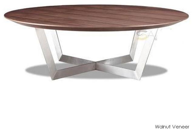Dixon Coffee Table Walnut Veneer Contemporary Coffee Tables
