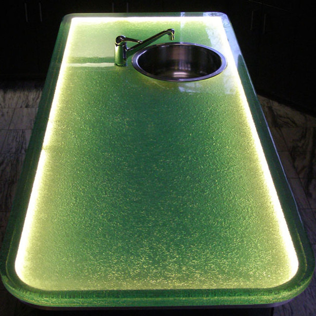 Glass Island Countertop