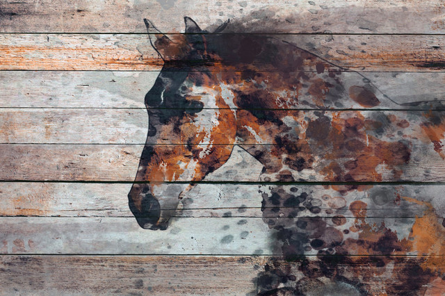 """Marmont Hill, """"Fire Horse"""" by Irena Orlov Painting on Wrapped Canvas, 45x30"""