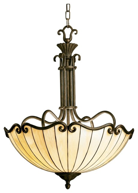 Kichler country cottage art nouveau tiffany style bowl country cottage art nouveau tiffany style bowl chandelier traditional chandeliers mozeypictures Gallery