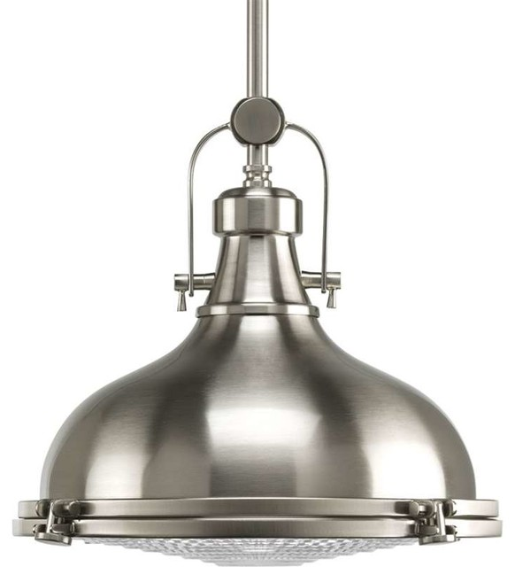 Progress Lighting Alta Pendant Light, Brushed Nickel Traditional Pendant  Lighting