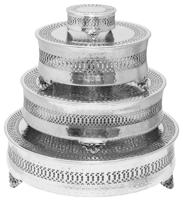 urban designs event essentials round 4 tier wedding cake stands traditional dessert and