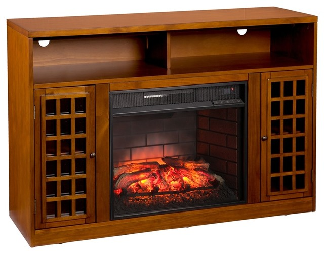Narita Infrared Electric Fireplace Media Stand.