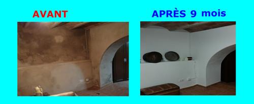 humidisyop photo avant apr s traitement des remont es capillaires. Black Bedroom Furniture Sets. Home Design Ideas