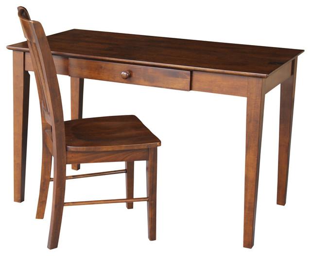 "Andrew 2-Piece Desk And Chair Set, Espresso, 48""."