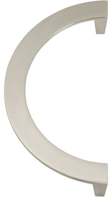 "Roundabout Collection Pull, Brushed Nickel, 5.5"" - Transitional - Cabinet And Drawer Handle ..."