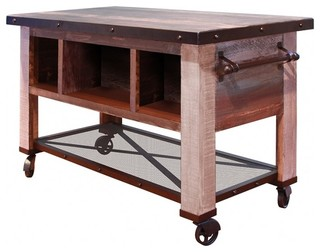 outstanding industrial kitchen island table | Bayshore Kitchen Island Prep Table - Industrial - Kitchen ...