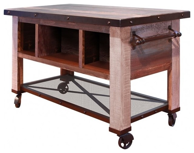 Crafters And Weavers   Bayshore Kitchen Island Prep Table   Kitchen Islands  And Kitchen Carts