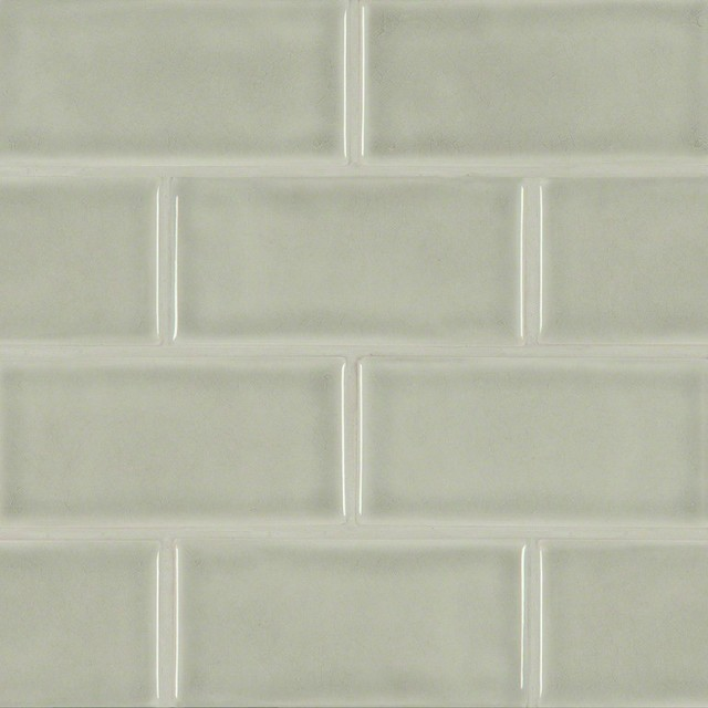 Morning Fog 3 X6 Ceramic Subway Tile Contemporary Wall And Floor