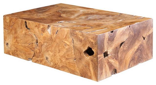47 Teak Slice Coffee Table One of a Kind Live Edge Freeform Wood