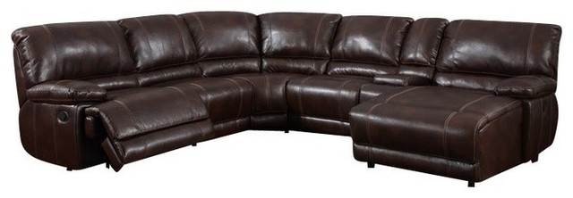 6 Piece Leather Sectional | Wayfair