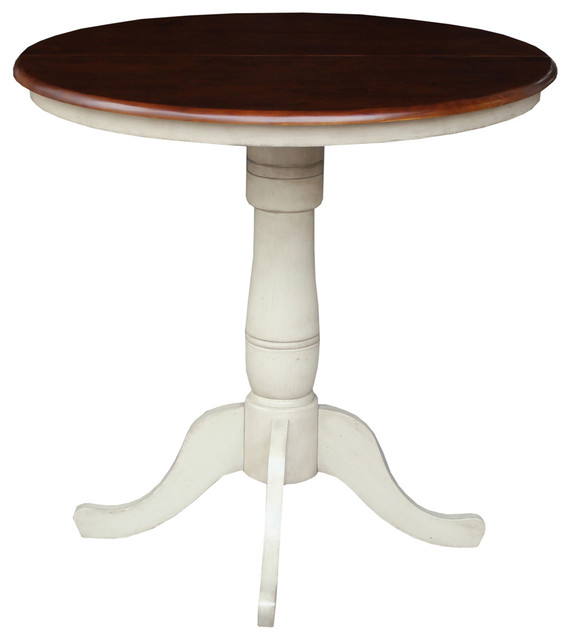 36 round extension table with 12 leaf traditional