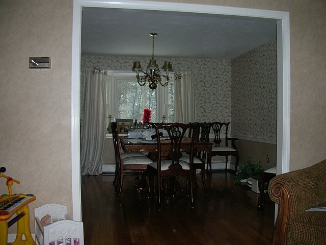Before photo of Dining Room
