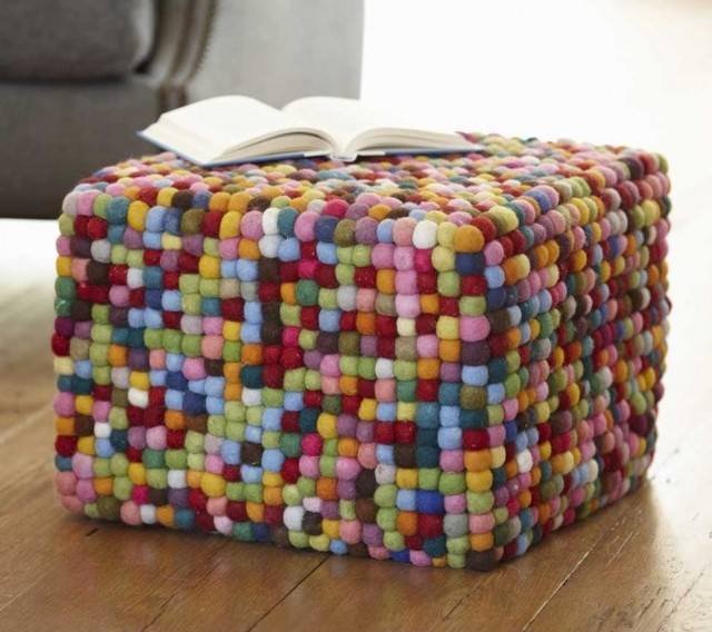 eclectic ottomans and cubes by VivaTerra
