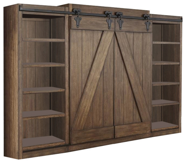 Liberty Furniture Lancaster Ii Entertainment Center In Antique Brown Transitional