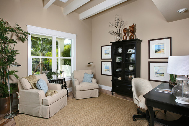 The Laurel Cottage Coastal Design Tropical Home Office