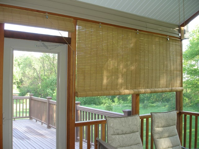 Exterior Porch Shades Beach Style Roller Shades