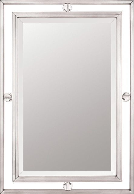 Quoizel Downtown Mirror, Brushed Nickel.