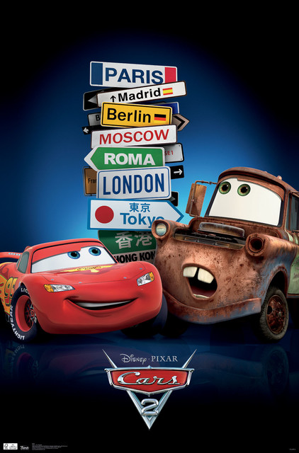 Cars 2 Movie Poster 24x36